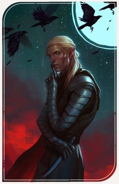 Zevran from Dragon Age Used photos of crows as a reference Dragon Age Origins, Dragon Age Inquisition, Dragon Age Games, Dragon Age 2, Character Portraits, Character Art, Character Design, Dragon Age Characters, Fantasy Characters
