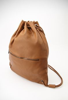 Drawstring bag from Forever 21 Leather Drawstring Bags, Drawstring Backpack, Under Armour Rucksack, Forever21, Vegan Handbags, Wallets For Women, Backpack Bags, Fashion Bags, Tejidos