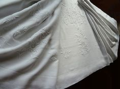 Antique French linen sheets