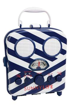 Sunnylife Portable Beach Speaker Am/fm Radio and Smartphone Holder Montauk for sale online Summer Tunes, Sound Speaker, Speakers, Face The Music, Smartphone Holder, Waterproof Speaker, Sunnylife, Music For Kids, Best Friend Gifts