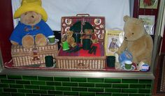 Ariah Park. Vintage Teddy Bears Picnic window display to coincide with Australia's Biggest Morning Tea.