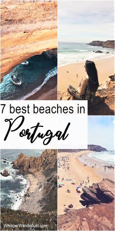 Portugal has some of the most beautiful beaches in Europe. The Algarve area in the south of the country is famous for its fine stretches of sand and spectacular limestone formations | algarve portugal | beaches in Portugal | best beaches in Portugal | most beautiful beaches in Algarve | beaches to visit in Portugal #portugal #algarve #algarvebeaches