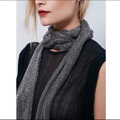 Free People Scarf Metallic scarf that can be wrapped around multiple times Free People Accessories Scarves & Wraps