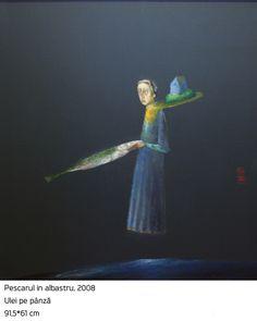 #25 Pescarul in Albastru Painting, Magic, Author, Art, Painting Art, Paintings, Paint, Draw
