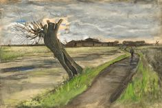 Van Gogh museum in Amsterdam unveils new willow watercolor; first addition in five years