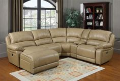 Brisbane Taupe Sectional (Left Side Chaise) RH-862-SEC1