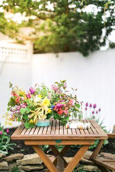 Dip-Dye Vase and Foraged Florals