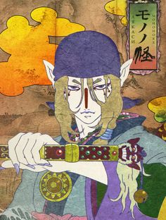 Mononoke. Two words, deliciously twisted. Follows the character of a medicine seller as he travels defeating supernatural monsters. A beautiful series of Japanese horror stories in feudal Japan. #mononoke #anime #manga