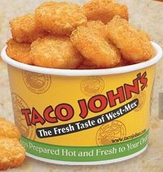 Taco John's Potato ole seasoning.   4 tsp Lawry's seasoning salt  2 tsp paprika  1 tsp ground cumin  1 tsp cayenne pepper 1/4 tsp. Celery Salt   Mix all ingredients. Sprinkle on tator tots or crispy crowns.