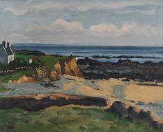 """Henri Émile Vollet 1861-1945p """"Le Pouldu"""" hsp sbd 50x61 Manet, Objet D'art, Brittany, Photos, Drawings, Painting, France, Inspiration, Gardens"""