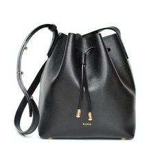 Nara Mini Bucket Bag Black RUSKIN (7.475 ARS) ❤ liked on Polyvore featuring bags, handbags, shoulder bags, bucket bag, mini purse, miniature purse, mini shoulder bag and wolf purse