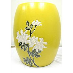 Floral Stool Has An Authentic Asian Dynasty Design Garden Accent Has A  High Luster Hard