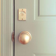 ドアロック/トイレ/farrow & ball/ペンキ塗り/ドア/ドアノブ…などのインテリア実例 - 2015-09-15 13:52:52 | RoomClip(ルームクリップ)