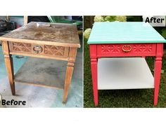 Go for the Bold This garage sale find got the help it deserved with a paint-and-paper upgrade. Bright colors not your thing? Subtler hues would save this worn piece just as well.
