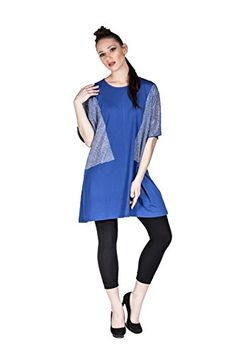 Women's Short Sleeve Tunic Shirt Mini Shift Dress with Rhinestones (Blue) LuckyBEBE http://www.amazon.com/dp/B01DTX8MH2/ref=cm_sw_r_pi_dp_GJ0axb0T0Z8P1
