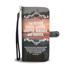 Ephesians I am blessed chosen adopted accepted redeemed and forgiven christian wallet phone cases. Love this verse? Then share it with your friends and family! Purchase this wallet phone case and we guarantee it will exceed your highest expectations! Prayer Quotes, Bible Verses Quotes, Encouragement Quotes, Faith Quotes, Deep Quotes, Quotes Marriage, Relationship Quotes, Relationships, Bible Verses About Love