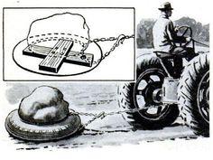 Tire Sled Slides Heavy Stone