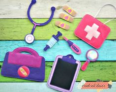 doc bag, pretend play, doctor toys, doc mcstuffins, girl toys, toys / busy bag…