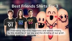 Best Friends Shirts For 3 - Matching Best Friend Hoodies - High Quality Best Friend Hoodies, Friends Shirts, Bff Shirts, Friends Are Like, Real Friends, Best Pal, A Blessing, Grief, Warm And Cozy