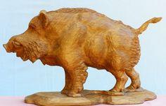 sculpture  boar - Sculpture,  35.5x44 cm ©2010 by David -            sculpture  boar