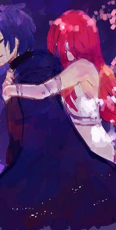 Fairy Tail - Jellal x Erza Fairy Tail Love, Fairy Tail Art, Fairy Tail Guild, Fairy Tail Ships, Fairy Tail Anime, Fairy Tales, Erza Y Jellal, Fairy Tail Jellal, Jerza