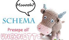 Ravelry: Nativity crochet: ox - Presepe uncinetto: bue amigurumi pattern by Carla Medda Crochet Giraffe Pattern, Crochet Cow, Crochet Animals, Crochet Crafts, Crochet Projects, Crochet Patterns, Amigurumi Free, Amigurumi Patterns, Mini Vasos