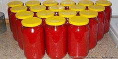 Σάλτσα ντομάτας σε βάζα Beverages, Drinks, Coca Cola, Food And Drink, Homemade, Canning, Logs, How To Make, Recipes