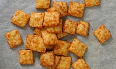 Homemade Cheese Crackers. Only 4 ingredients.