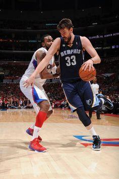 Marc Gasol Memphis Grizzlies Ronny Turiaf Los Angeles Clippers