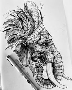 Tattoo Sketches, Tattoo Drawings, Art Sketches, Family Tattoo Designs, Tattoo Foto, Tattoo Flash Sheet, Dope Cartoon Art, Graffiti Tattoo, Elephant Tattoo Design