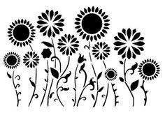 flower border stencil                                                                                                                                                     More