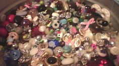 Beads - GEMS and BUTTONS  ! LOTS vintage - NEW  crafting sewing Jewelry Auction!