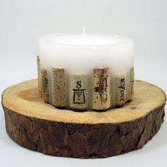 świeczka z korkami od wina - Rękodzieła i Handmade od Candlelights Pillar Candles, Candle Jars, Tea Lights, Decorating, Handmade, Dekoration, Decoration, Hand Made, Candle Mason Jars