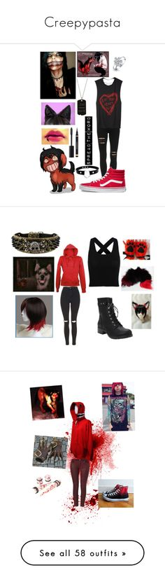 """Creepypasta"" by tomboy-for-life ❤ liked on Polyvore featuring Forum, Vans, Bling Jewelry, ADORNIA, Chanel, Yves Saint Laurent, Topshop, Torrid, 7 For All Mankind and Converse"