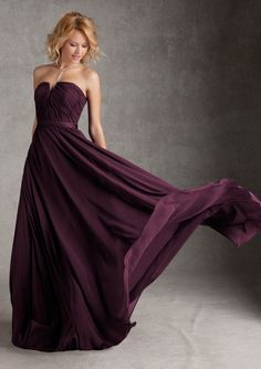 Taffeta Bridesmaid Dress From Angelina Faccenda Bridesmaids By Mori Lee Dress Style 20421 Luxe Chiffon with Satin Waistband