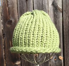 Light green beanie