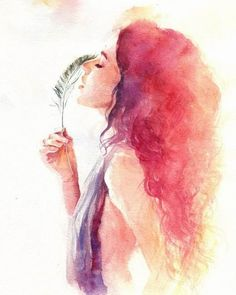 Imagen de girl, art, and draw watercolor portrait painting, sexy painting, fire Inspiration Art, Art Inspo, Watercolor Portraits, Watercolor Paintings, Nature Paintings, Paintings Of Faces, Watercolor Tattoos, Watercolor Animals, Watercolor Techniques