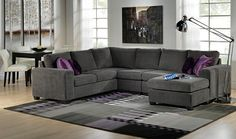 U shaped couch are a must for living rooms, family rooms and office waiting rooms but like most furniture, they are not cheap Living Room Seating, My Living Room, Home And Living, Living Spaces, Dining Room, U Shaped Couch, U Shaped Sectional Sofa, Basement Furniture, Living Room Furniture