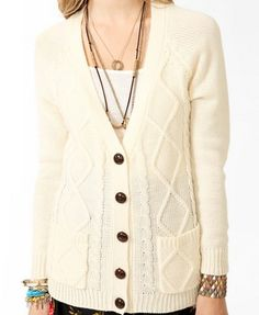 Diamond Patterned Cardigan | FOREVER 21 - 2030186865