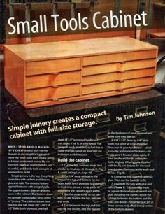 #1030 Small Tools Cabinet Plans - Workshop Solutions