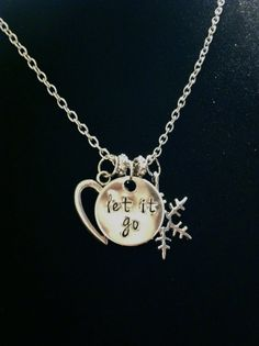 Disney's Frozen Inspired Let It Go Necklace by byAmandaJane, $20.00
