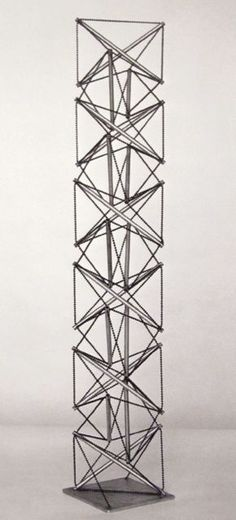 Kenneth Snelson, pioneer of tensegrity structures.  https://www.youtube.com/watch?v=4ujChguAaFc