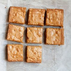 These Toffee Blondies are made with brown-butter and my favorite childhood candy– the Heath Bar.