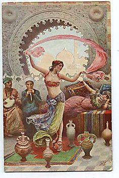 vintage bellydance postcard joyofbellydancing.com