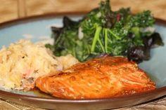 Salmon with Honey and Tamari Marinade