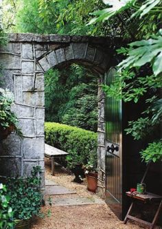 Garden, Landscaping, Stone, Classic