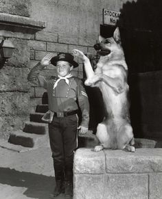 Lee Aaker and Rin Tin Tin.