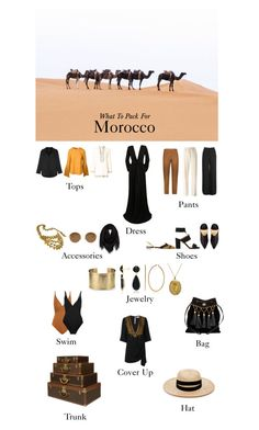"""""""What To Pack For: Morocco"""" by calabasas-princess ❤ liked on Polyvore featuring MM6 Maison Margiela, Chloé, Aquazzura, Oscar de la Renta, Tory Burch, Mykita, The Row, Chanel, Blue Nile and Kaelen"""