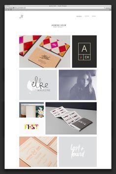 Jasmine Holm — Graphic Design Website