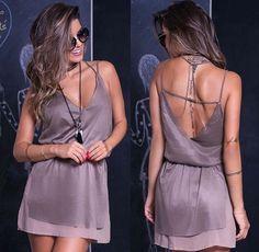 Vestido Curto - Short Dress - Transpassado